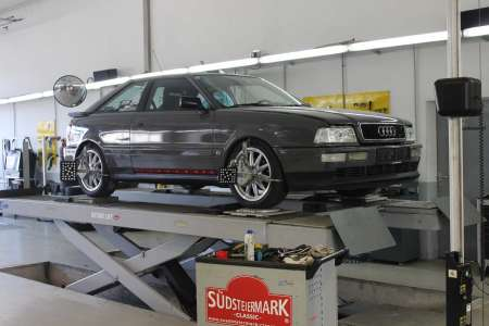 Audi Coupe 3D Achsvermessung